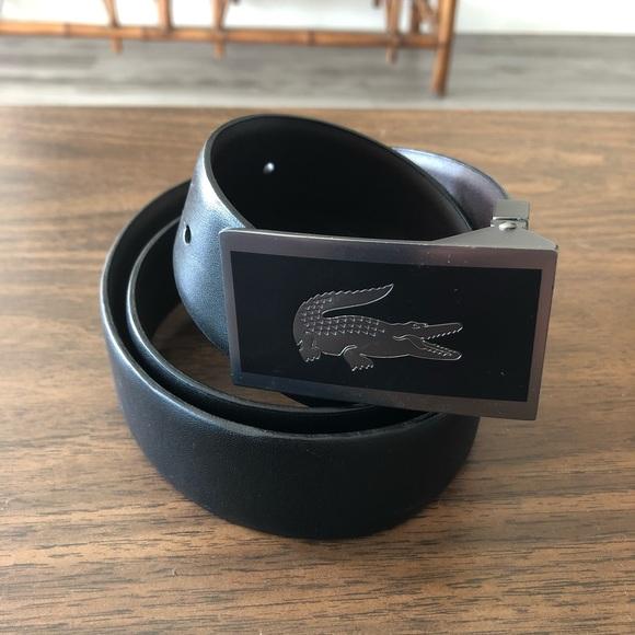 62da002e73 Lacoste Accessories | Blackbrown Leather Belt Size 34 | Poshmark